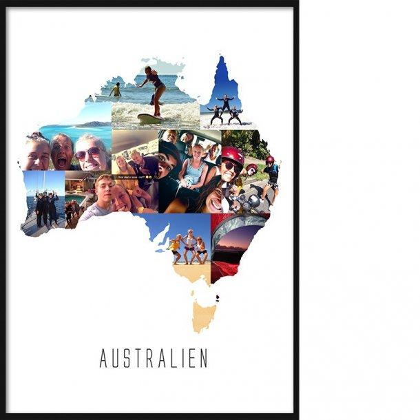 Land- & Rejse Collage Plakat